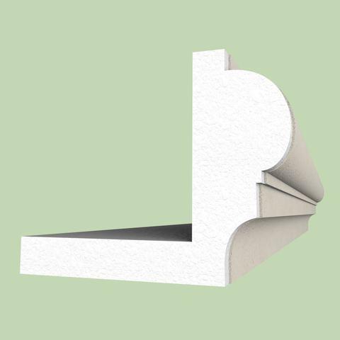 Наличник с откосом из пенопласта - вариант отделки окон