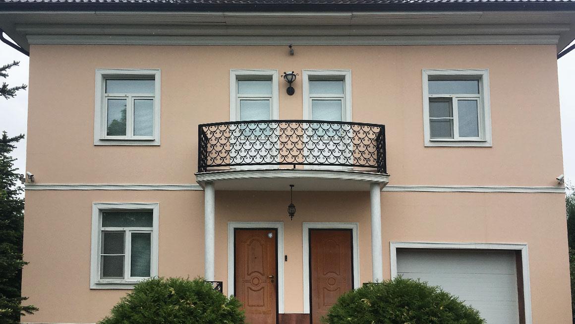 Фасадный материал - штукатурка