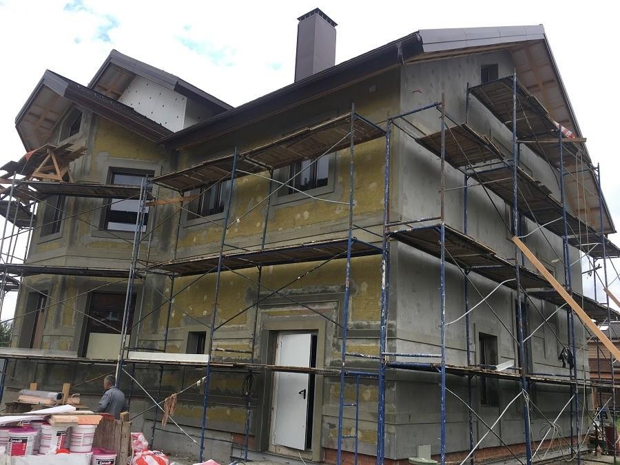 Работы по утеплению фасадов минватой