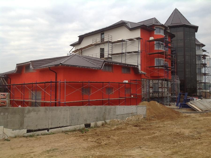 Утепление, штукатурка и окраска здания в Крючково, этап 5