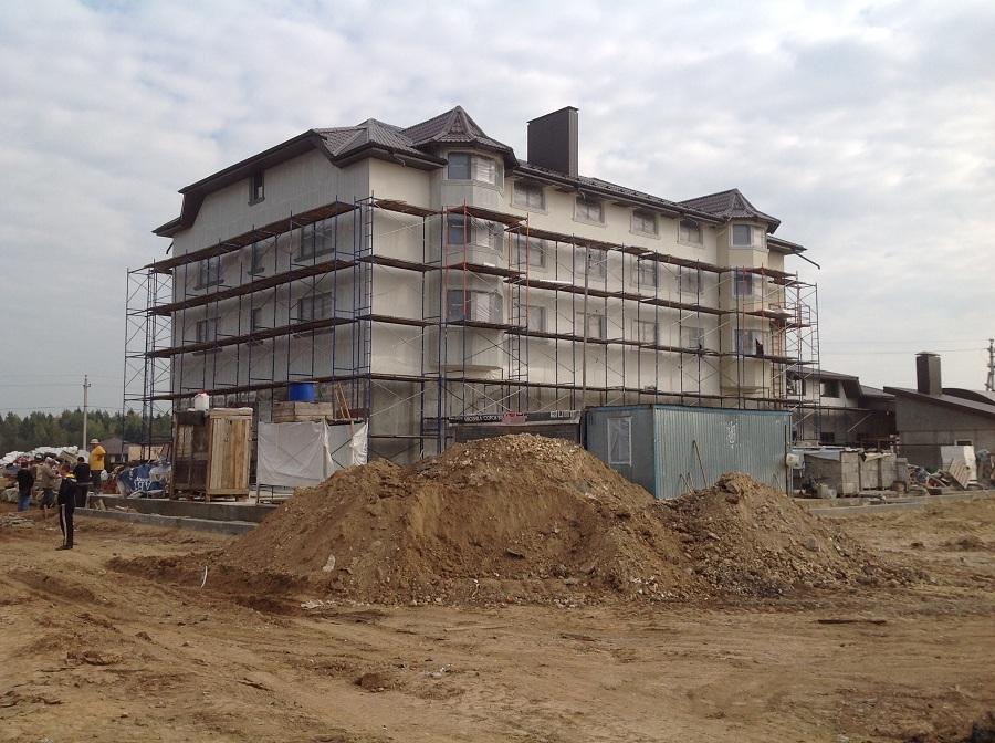 Утепление, штукатурка и окраска здания в Крючково, этап 6