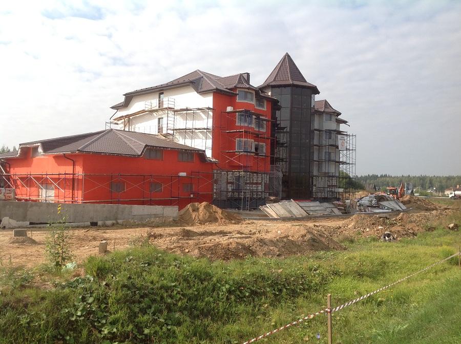 Утепление, штукатурка и окраска здания в Крючково, этап 7