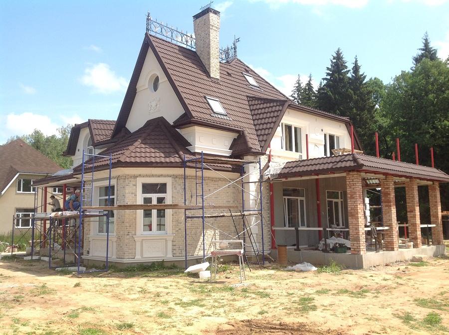 Отделка фасада жилого дома в Голицыно (Московская область), фото 7