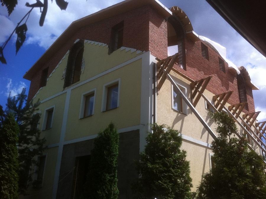 Отделка штукатуркой усадьбы в Лигачево, фото 1