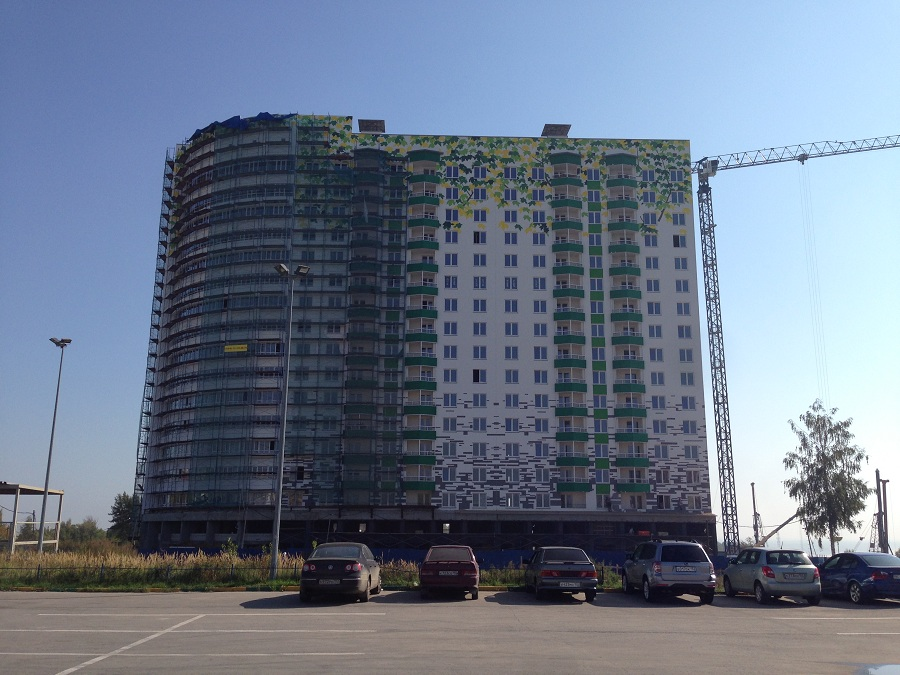 Утепление, отделка и окраска фасадов ЖК «Монолит» (Нижний Новгород), фото 2