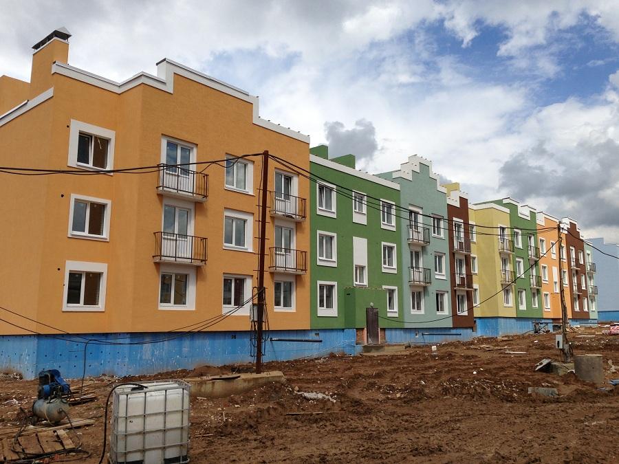 Отделка фасадов жилых многоквартирных домов ЖК «Новое Ступино» в Московской области, фото 10