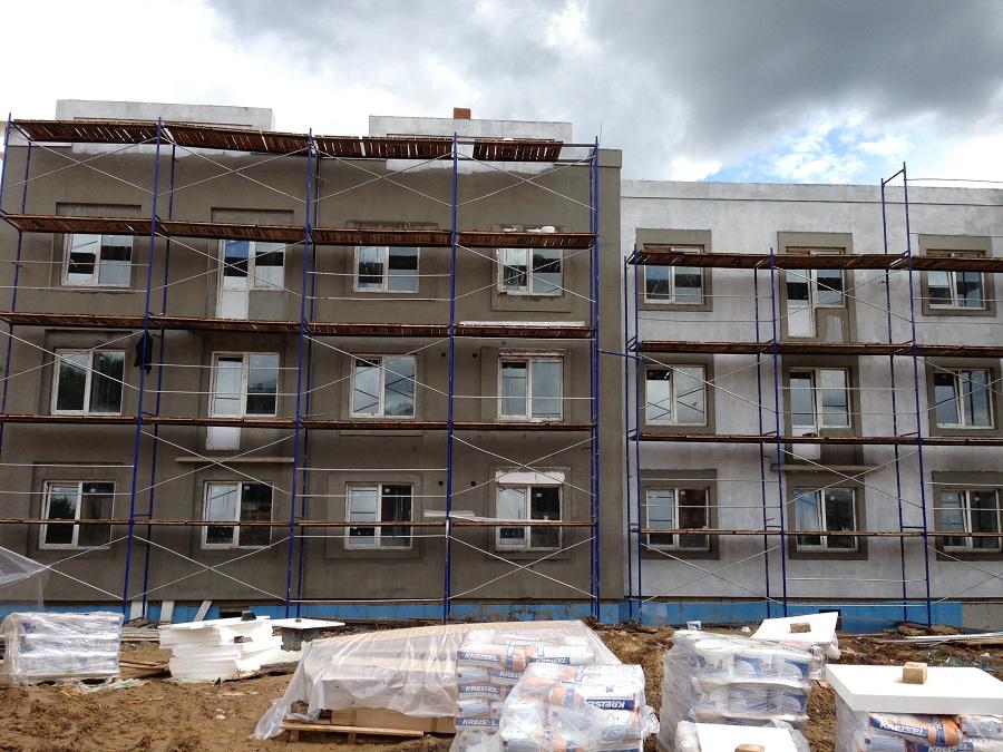 Отделка фасадов жилых многоквартирных домов ЖК «Новое Ступино» в Московской области, фото 11