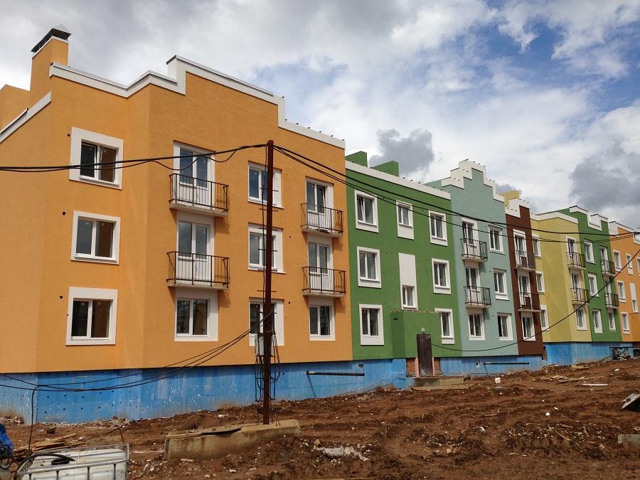 Отделка фасадов жилых многоквартирных домов ЖК «Новое Ступино» в Московской области, фото 12