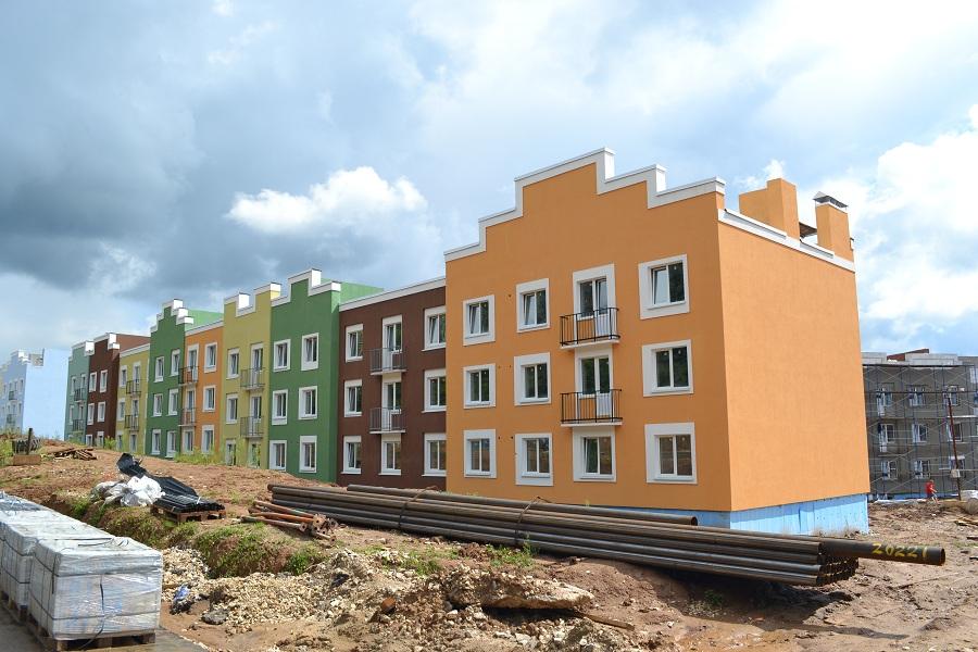 Отделка фасадов жилых многоквартирных домов ЖК «Новое Ступино» в Московской области, фото 7