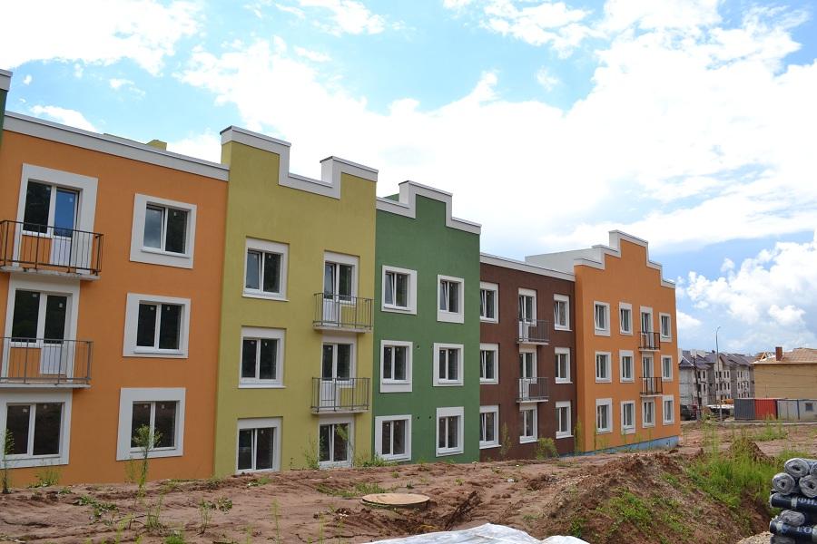 Отделка фасадов жилых многоквартирных домов ЖК «Новое Ступино» в Московской области, фото 8