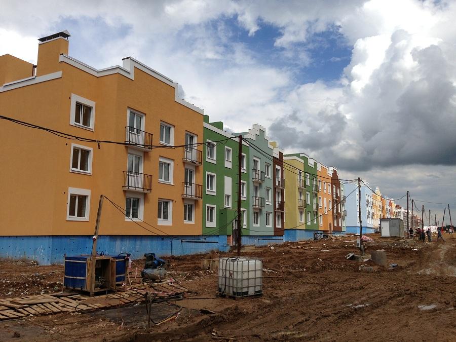 Отделка фасадов жилых многоквартирных домов ЖК «Новое Ступино» в Московской области, фото 9