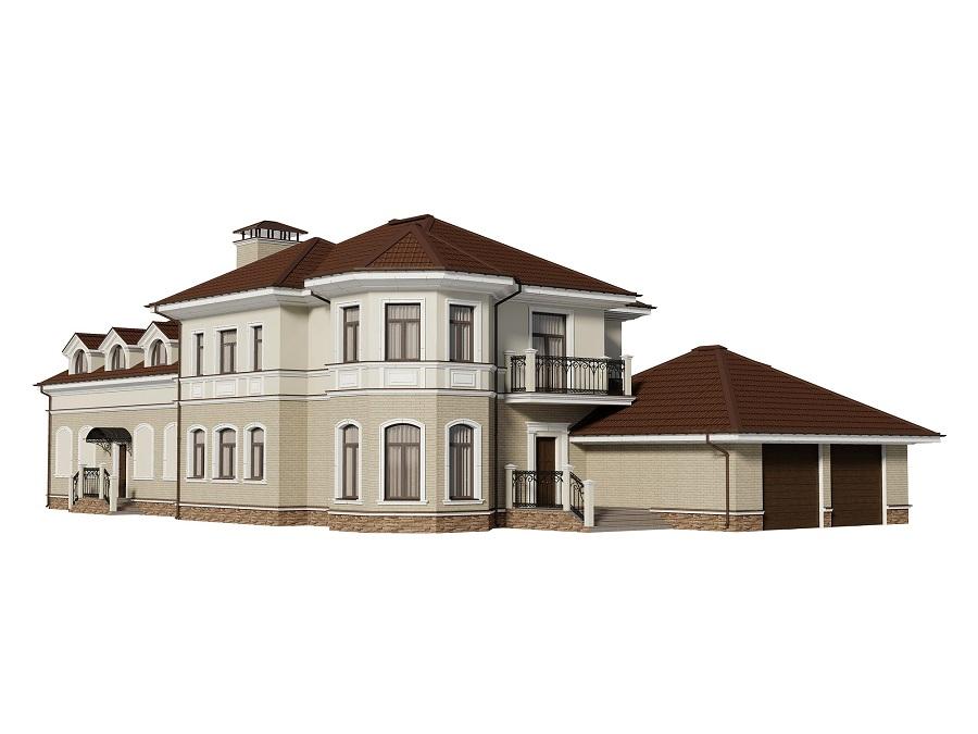 Отделка фасада двухэтажного кирпичного жилого дома в д. Павлово (МО), фото 16