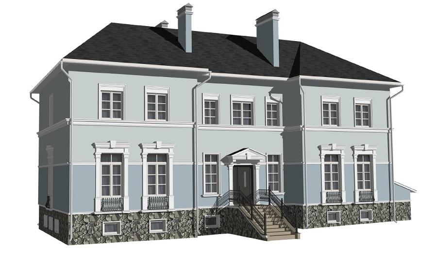 Отделка фасада кирпичного дома в д. Петровское, фото 14