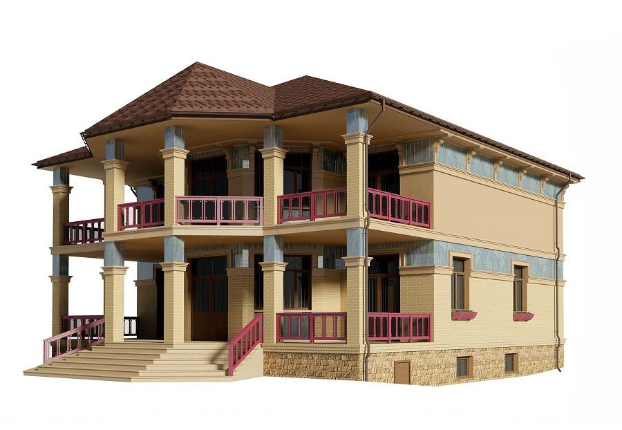 Отделка фасада жилого дома в д. Поздняково, фото 12