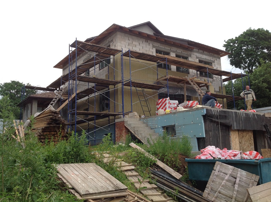 Отделка фасада дома из газобетона в мкр. Сходня, фото 1