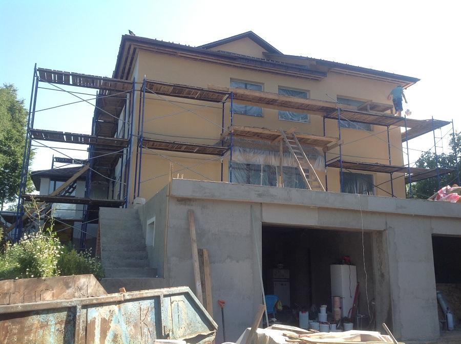 Отделка фасада дома из газобетона в мкр. Сходня, фото 2