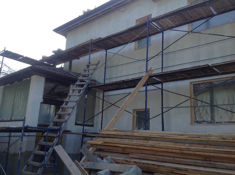 Отделка фасада дома из газобетона в мкр. Сходня, фото 3