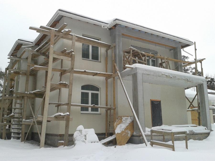 Отделка дома из газобетона в Тарасовке, этап 1