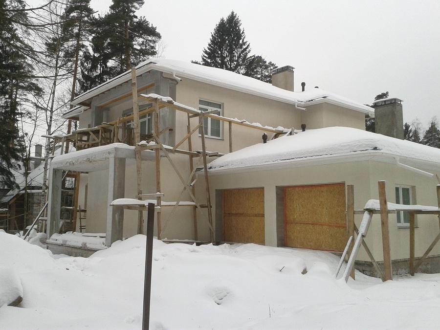 Отделка дома из газобетона в Тарасовке, этап 2