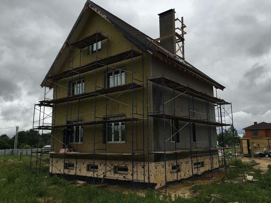 Комплексная отделка фасада двухэтажного кирпичного дома в деревне Бритово (Московская область), фото 8
