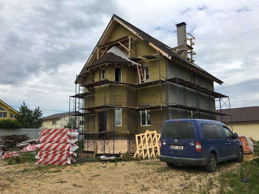 Комплексная отделка фасада двухэтажного кирпичного дома в деревне Бритово (Московская область), фото 11