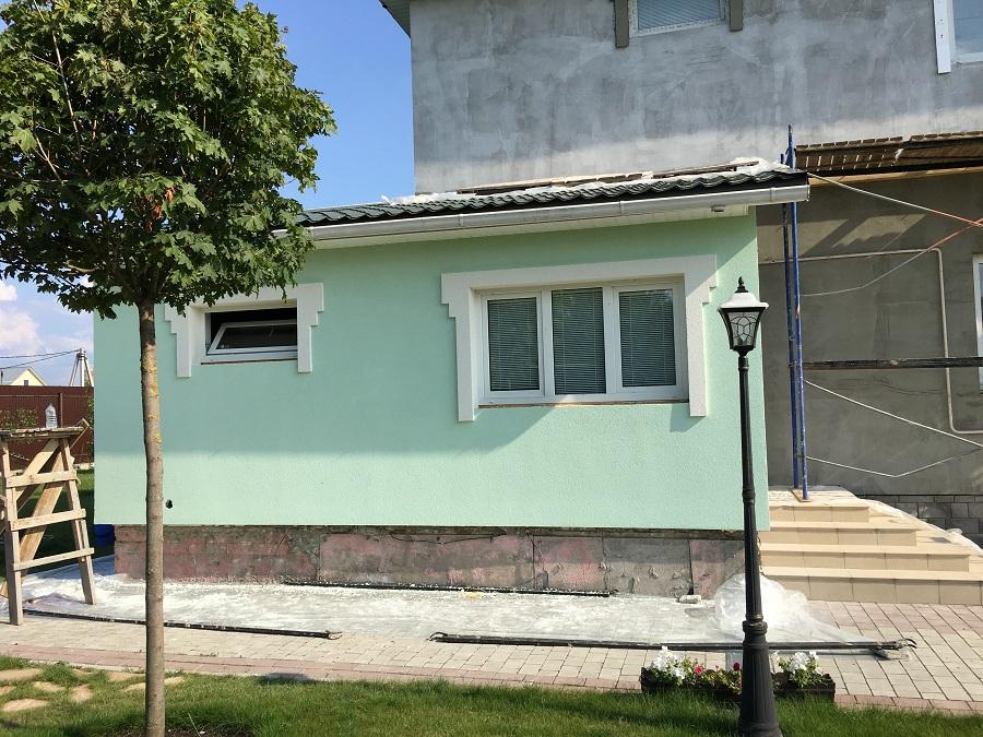 Комплексные работы по отделке фасада жилого двухэтажного дома в Брехово (Московская область), фото 5