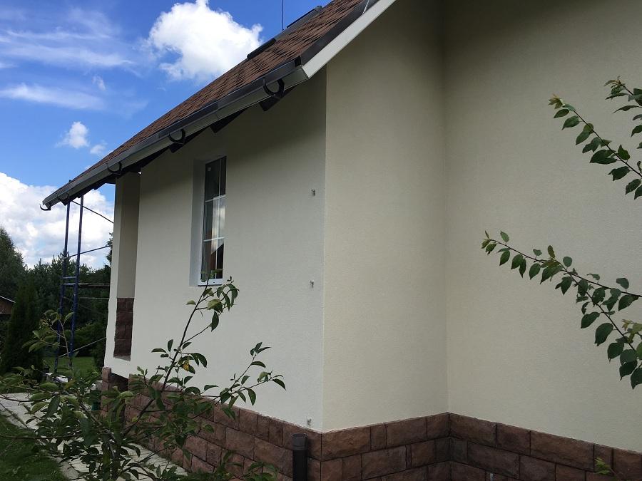 Ремонт (отделка штукатуркой) фасада дома в Чекмово, фото 3