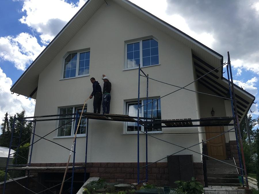 Ремонт (отделка штукатуркой) фасада дома в Чекмово, фото 4
