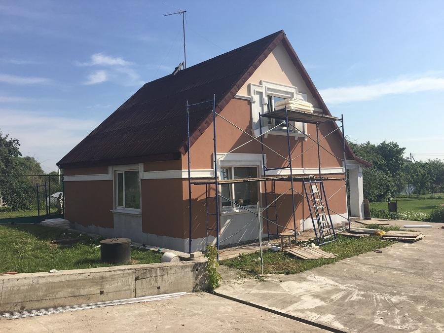 Утепление и штукатурная отделка фасадов домов в Чулково (Московская область), фото 12