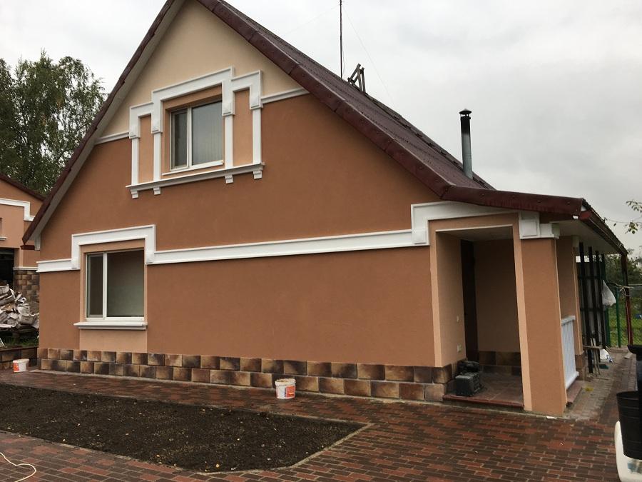 Утепление и штукатурная отделка фасадов домов в Чулково (Московская область), фото 3