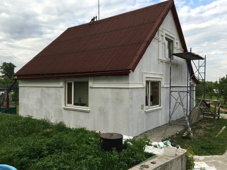 Утепление и штукатурная отделка фасадов домов в Чулково (Московская область), фото 5