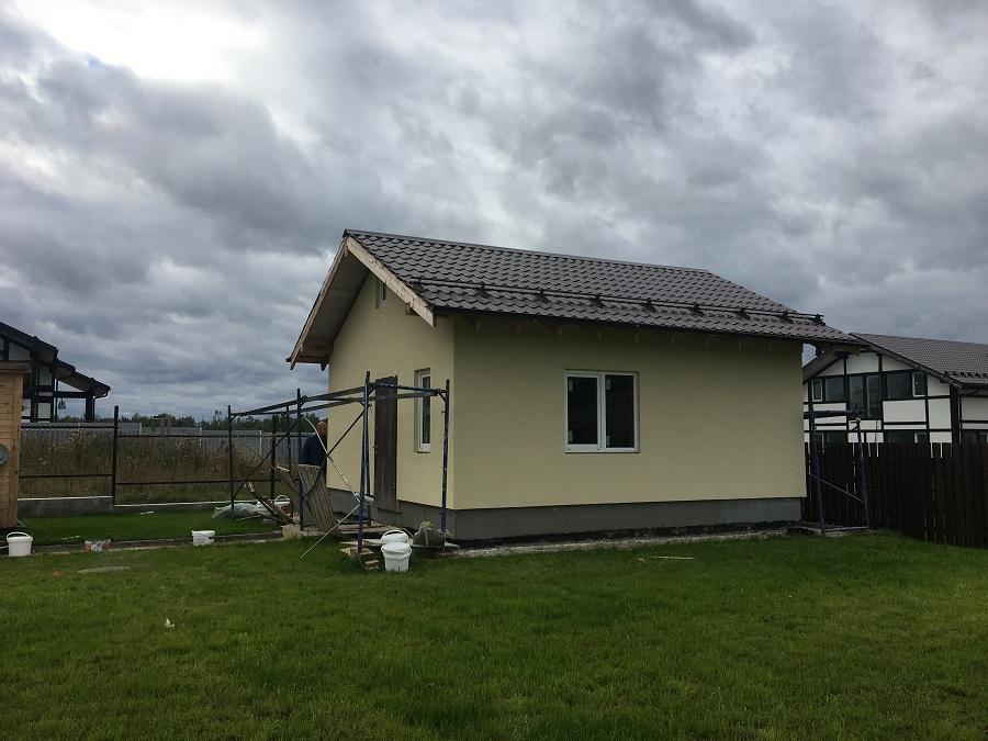 Отделка двухэтажного жилого дома в коттеджном поселке Фламандия (Московская область), фото 12