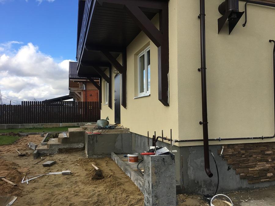 Отделка двухэтажного жилого дома в коттеджном поселке Фламандия (Московская область), фото 13
