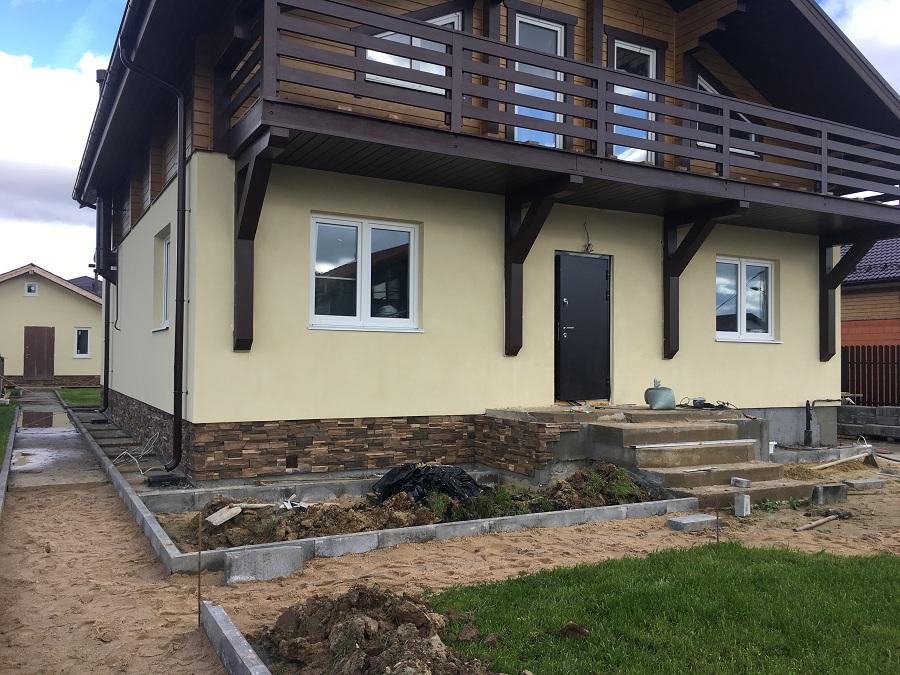 Отделка двухэтажного жилого дома в коттеджном поселке Фламандия (Московская область), фото 3