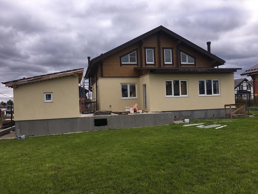 Отделка двухэтажного жилого дома в коттеджном поселке Фламандия (Московская область), фото 4