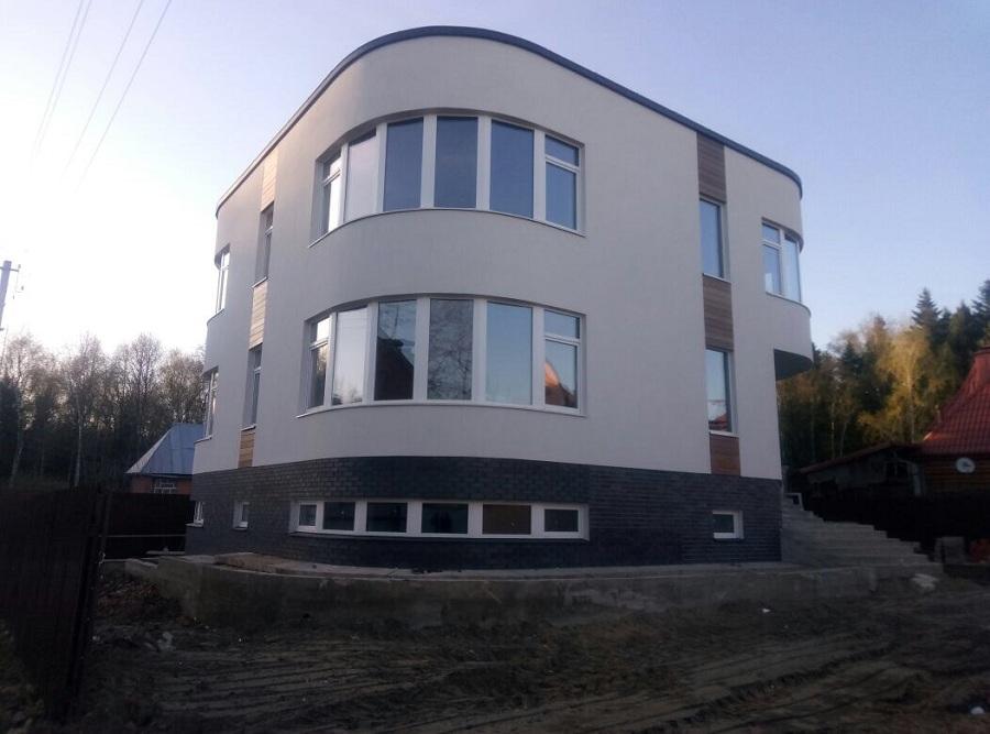 Отделка фасада торгово-офисного здания в д. Козино Московской области, фото 6