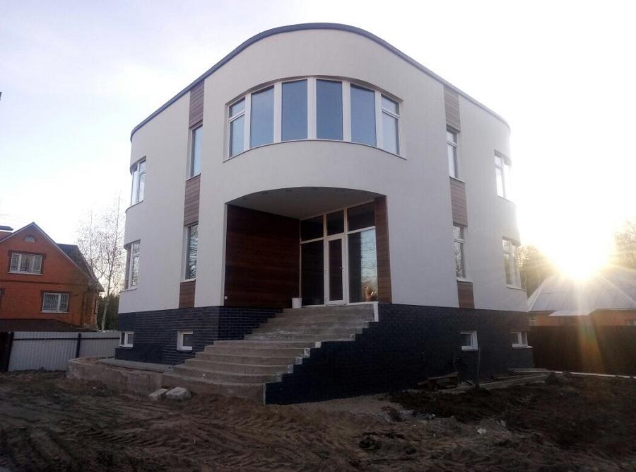 Отделка фасада торгово-офисного здания в д. Козино Московской области, фото 8