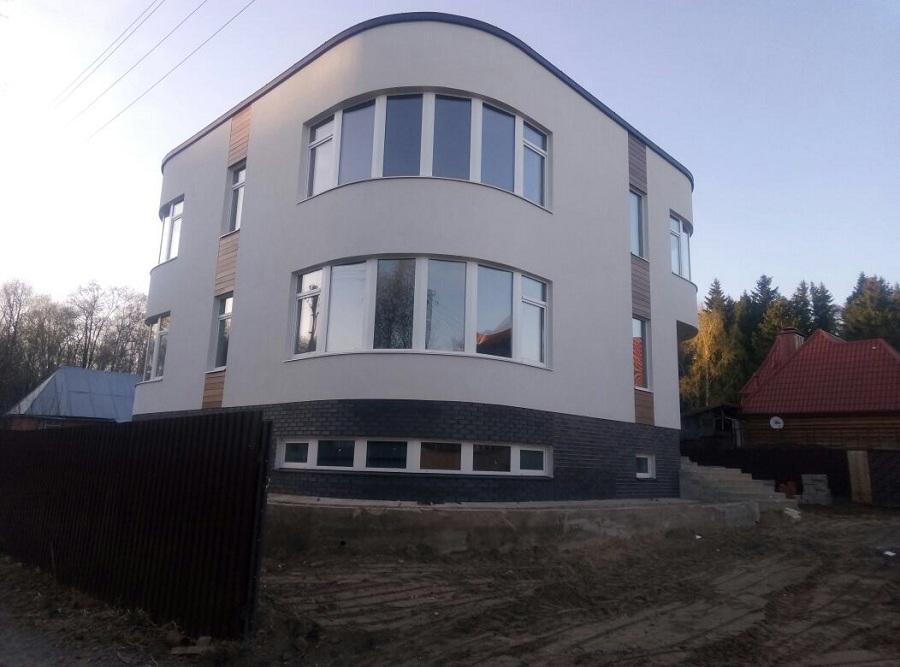 Отделка фасада торгово-офисного здания в д. Козино Московской области, фото 9