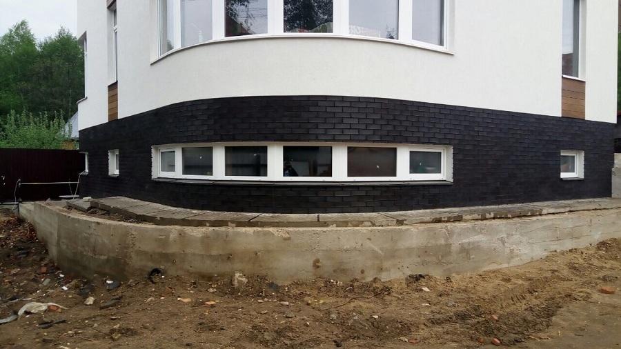 Отделка фасада торгово-офисного здания в д. Козино Московской области, фото 10