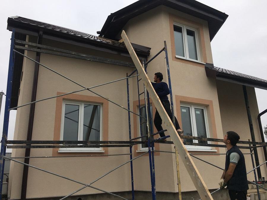 Утепление и оштукатуривание блочного коттеджа в Нащекино, фото 3