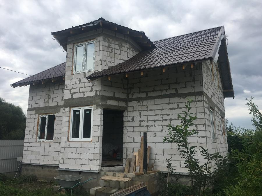 Утепление и оштукатуривание блочного коттеджа в Нащекино, фото 6