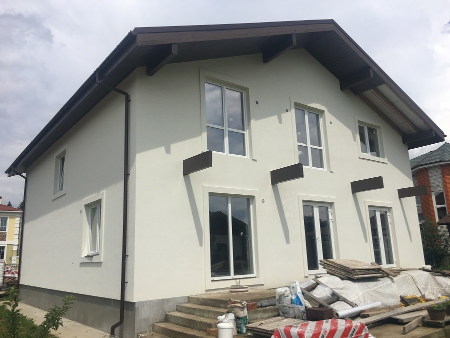Утепление и оштукатуривание блочного дома в Новоглагольево, фото 2