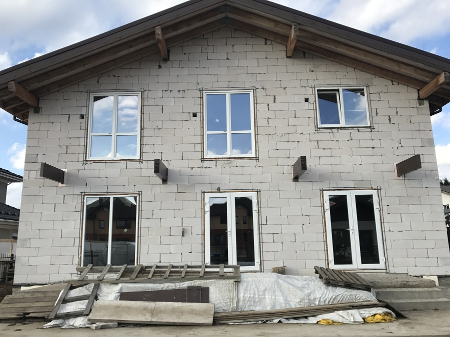 Утепление и оштукатуривание блочного дома в Новоглагольево, фото 3