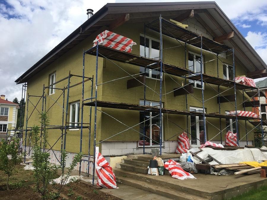 Утепление и оштукатуривание блочного дома в Новоглагольево, фото 5
