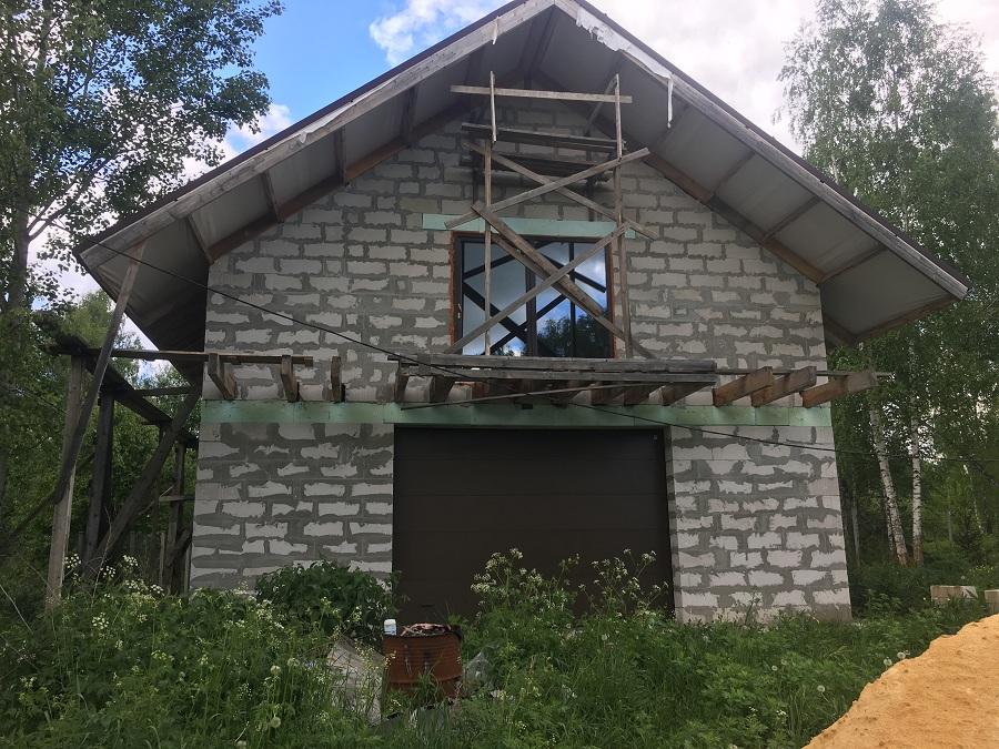 Комплексная отделка фасада двухэтажного жилого дома из блоков, фото 5