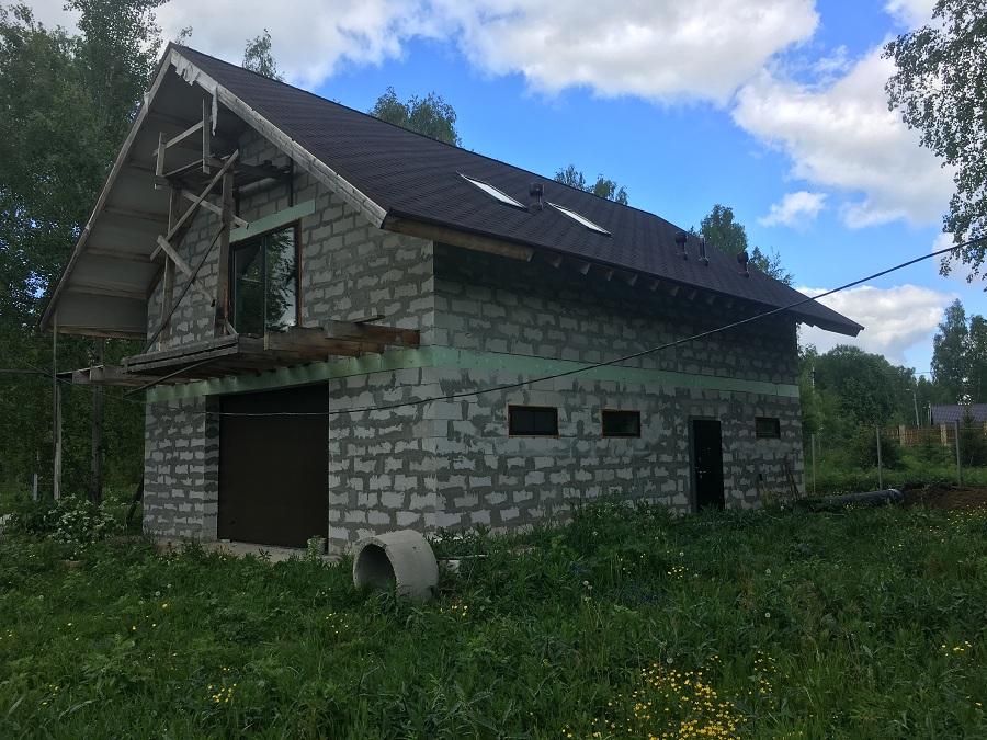 Комплексная отделка фасада двухэтажного жилого дома из блоков, фото 6