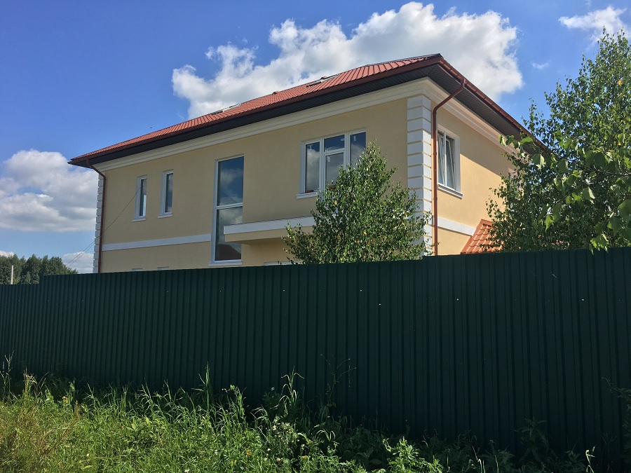 Утепление и штукатурная отделка блочного коттеджа в Заворово (МО), фото 1