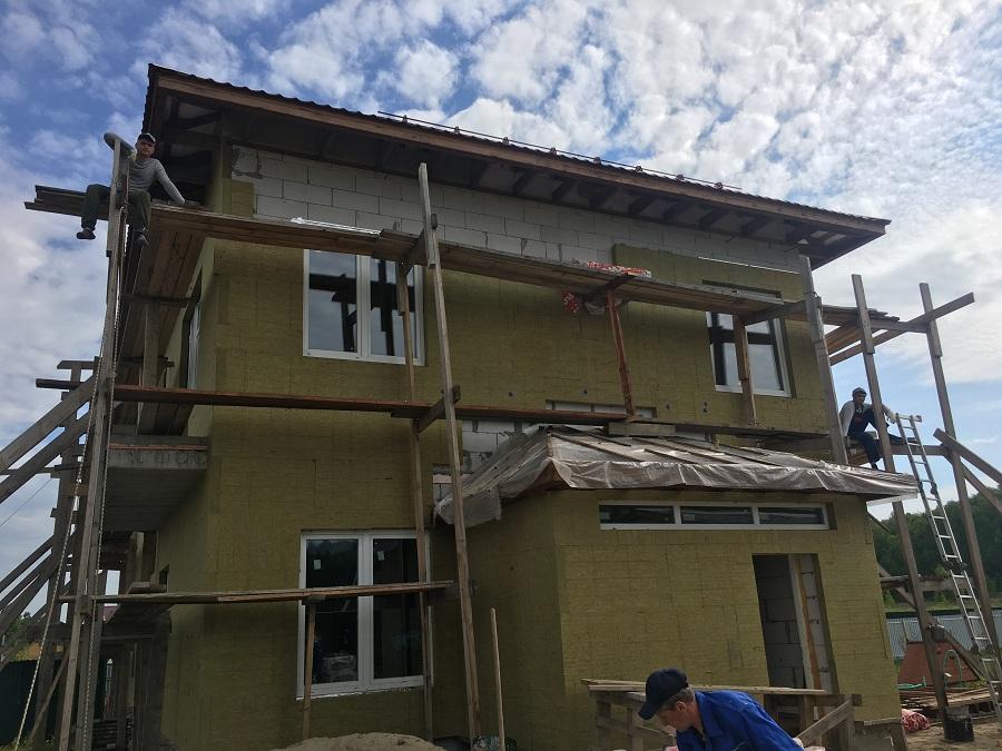 Утепление и штукатурная отделка блочного коттеджа в Заворово (МО), фото 2