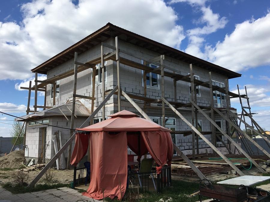 Утепление и штукатурная отделка блочного коттеджа в Заворово (МО), фото 4