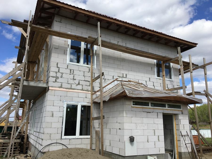 Утепление и штукатурная отделка блочного коттеджа в Заворово (МО), фото 8